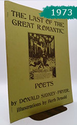 image of the cover of The Last of the Great Romantic Poets