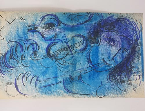 art page from Chagall art book